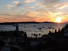 View from our apartment in Hvar