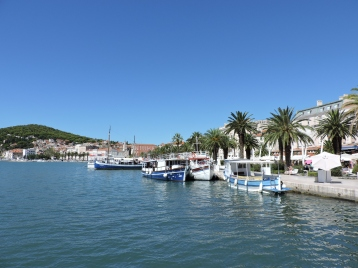 The beautiful port in Split