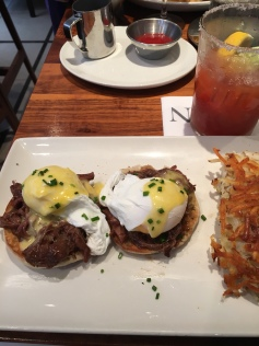 Short rib benedict at Nick's