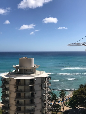 Arriving in Waikiki - great view from our hotel room