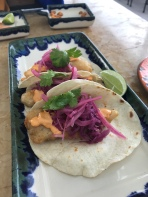 Fish tacos at the Rosewood