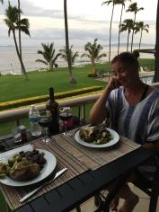 Dinner on our terrace