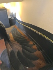 Typical stairs in the brown cafes