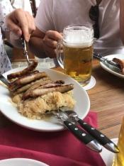 Famous sausage of Regensburg