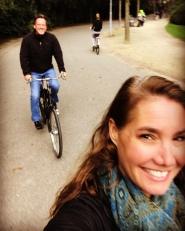 Biking through Vondelpark