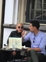Yea I saw Lady Gaga at a cafe in Amsterdam