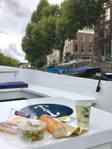 Picnic on the canal boat
