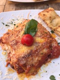 Lasagna at Grazi & Graziella