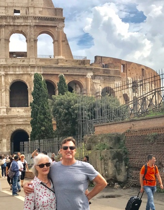 Mom and Dave at the Colosseum