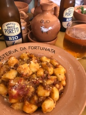 Gnocchia at Osteria da Fortunata