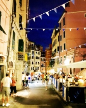 Evening in Riomaggiore - lots of bars, restaurants and shops without the crowds