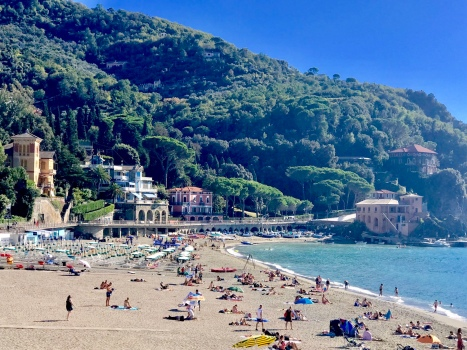 The beach in Levanto