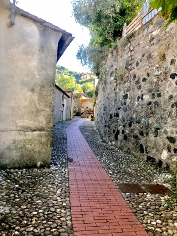 The path to the castle/fortress from the church