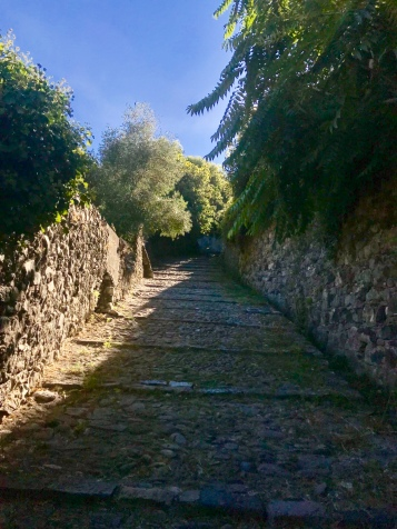 Walking to the castle in Levanto