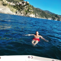 Rented a boat in Riomaggiore and took a swim in the sea