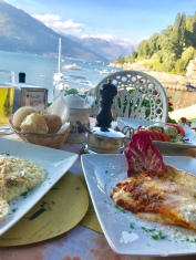 First meal in Varenna... Il Molo. Great food and the best gelato!