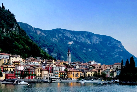 Arriving in Varenna from the ferry