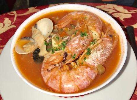 Fish soup from Borgovino. Very tasty