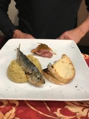 Starter at Borgovino... lake fish pate was excellent