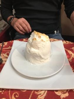 Borgovino's version of a baked Alaska