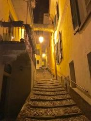 Streets of Varenna at night