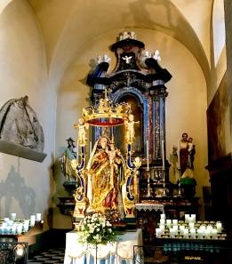 Inside the church of S. Giorgio