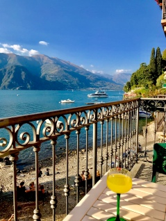 Limoncello from our terrace in Varenna