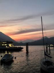 One of the many glorious sunsets in Varenna