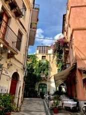 Typical street in Taormina