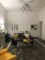 Relaxing in our apartment in Palermo