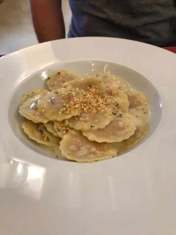 Pork ravioli at I Cucci