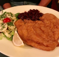 Chicken schnitzel at Tiroler Hut