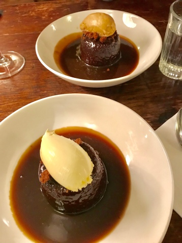 BEST sticky toffee with clotted cream at Hawksmoor