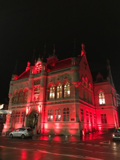 Town House by night
