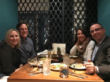 Dinner with dear friends Kristen and David