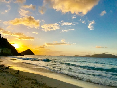 First sunset in Tortola