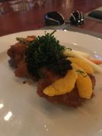 Pork schnitzel at Mirador at Point Pleasant resort