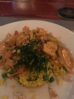 Curry chicken at Mirador restaurant at Point Pleasant