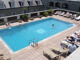 The rooftop pool at Omni Royal Orleans
