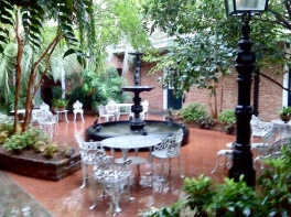 One of the courtyards at The Hotel Provincial