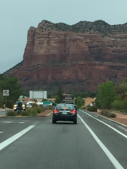 Driving in to Sedona