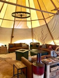 Under Canvas Moab lobby tent