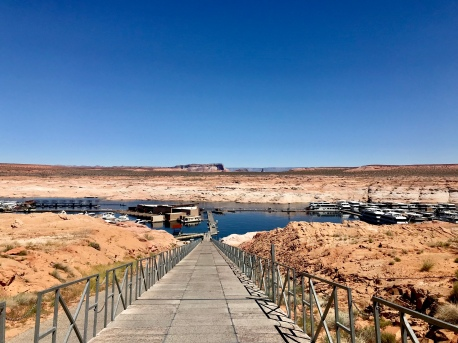 The long walkway to Lake Powell
