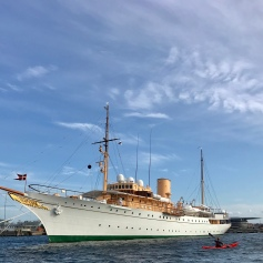 The Royal Yacht in the harbor