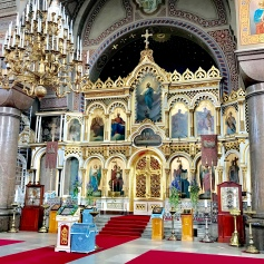 Inside Uspenskin Cathedral