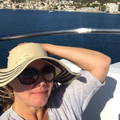 Sunbathing on deck