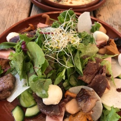Another big tasty salad at Olde Hansa