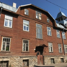 Typical wood homes of the working class in Tallinn
