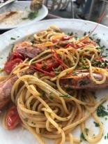 Seafood pasta at Trattoria Pontini