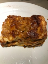Excellent lasagna at Rossa Rosa